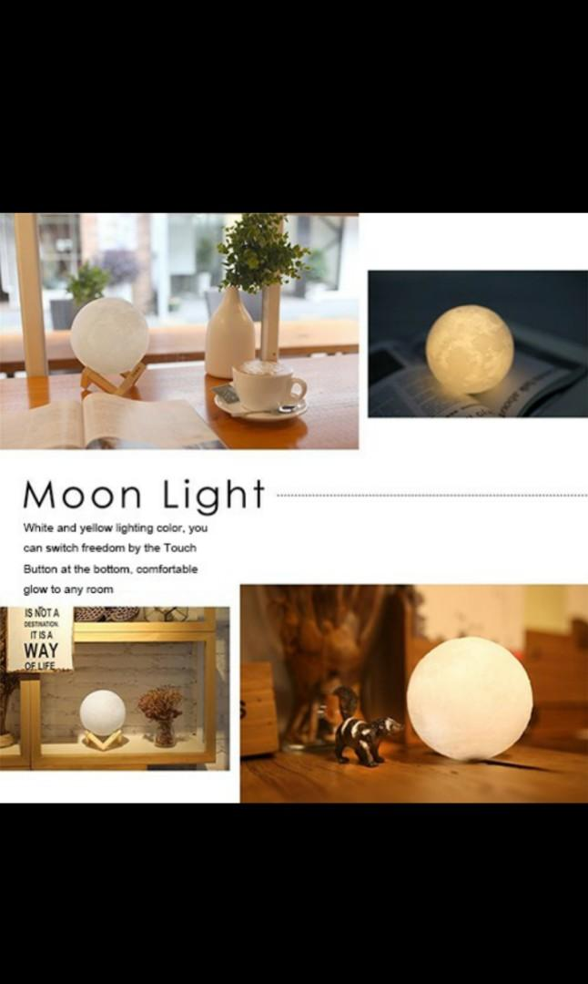 3D Printed Moon Lamp
