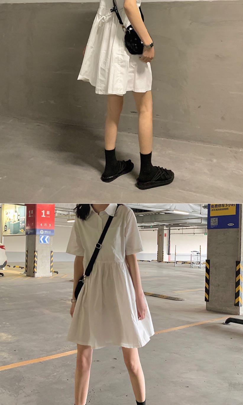 翻領襯衫連身裙