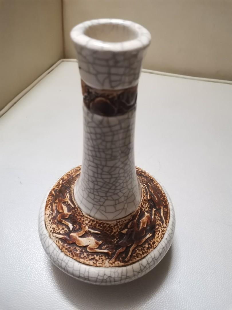 古董五鹿花瓶