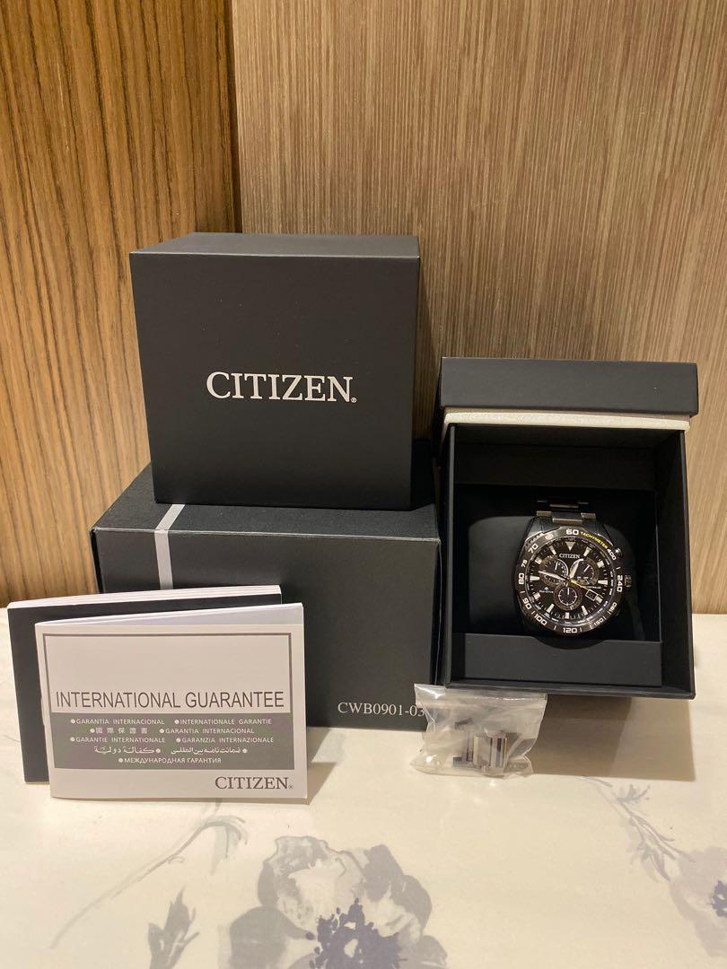 日本限定 Citizen 鈦金屬光動能電波錶 CWB0901-03