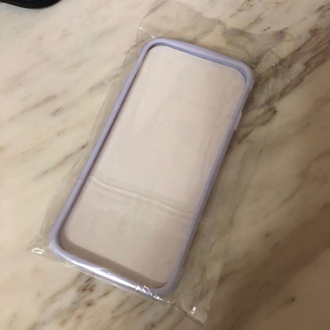 全新撞色多彩手機殼 iphone xs max iphone 7/8 紫白