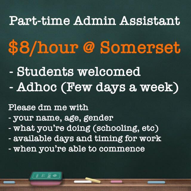 Admin Assistant (Students welcomed)