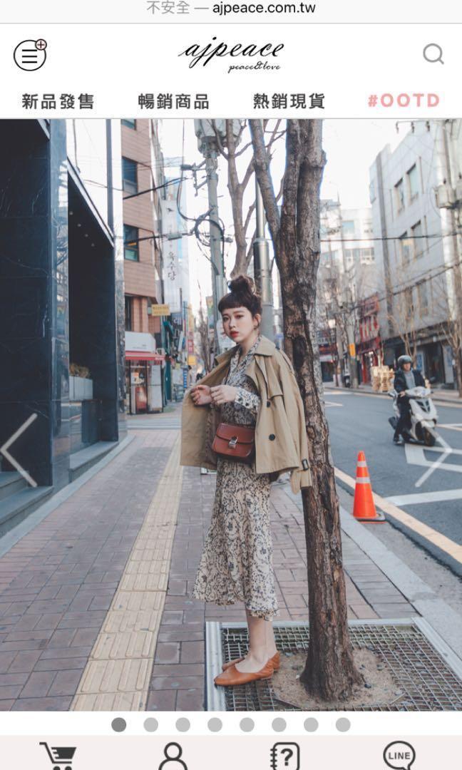 Ajpeace藤蔓魚尾連身洋裝(米白) #五折衣物