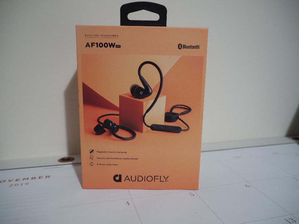 Audiofly AF100W MK2 In-Ear Wireless Bluetooth Headphones (Black)