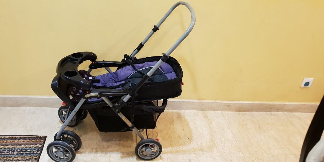 Black purple stroller