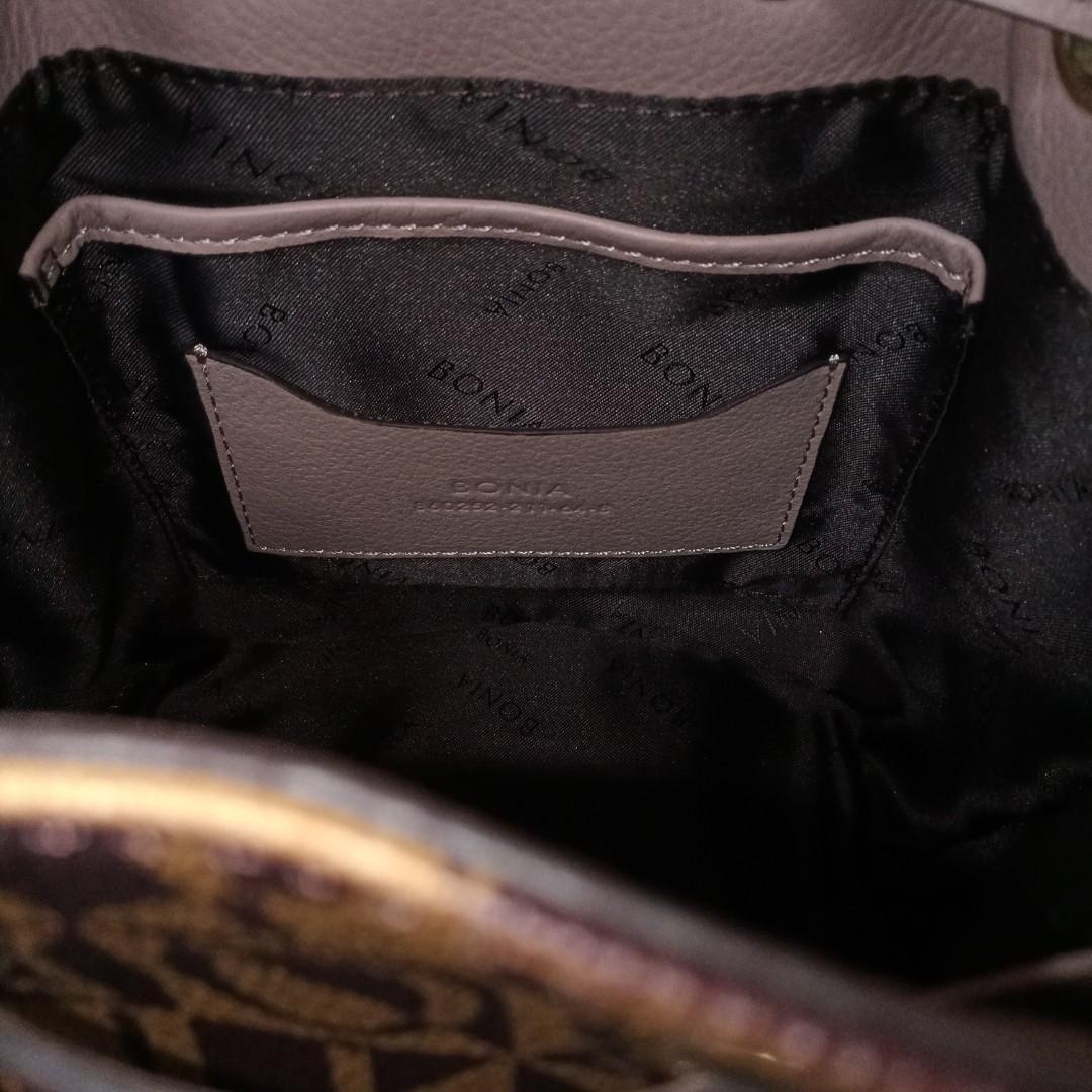 Bonia genuine leather mono flower limited edition handbag