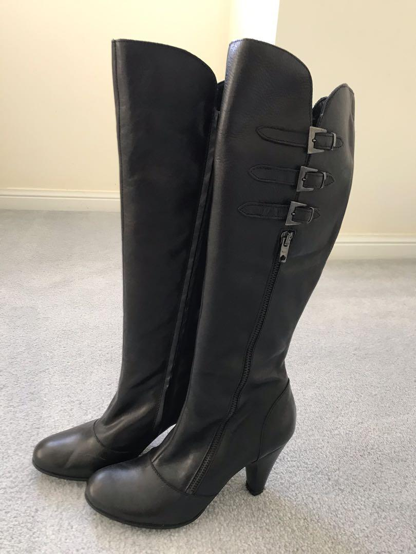 Brand new Browns Couture knee highs boots (size 37 / US 6.5) (8cm heel)