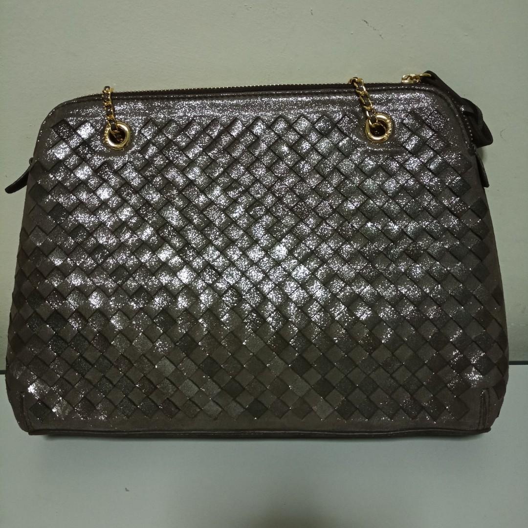 Calonge genuine leather weave handbag luxury