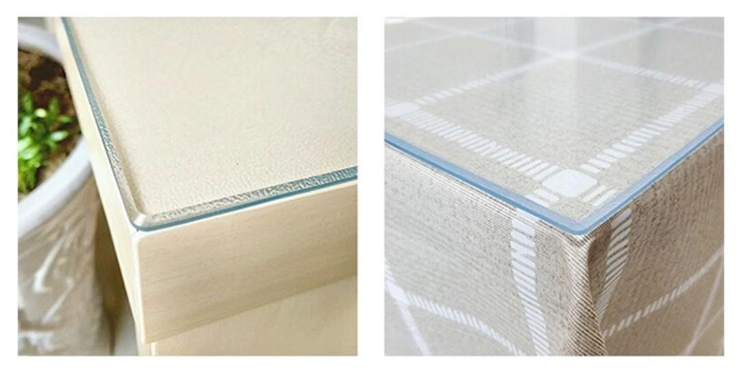 Clear PVC table protector mat 3mm thick 25x120cm
