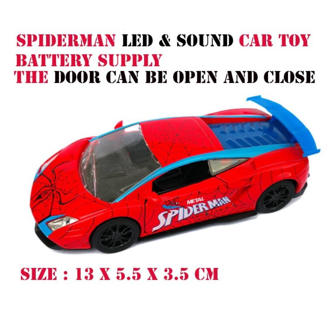 Cute Spiderman Lamborghini Car Toy Car Decoration Cake Decoration Kid Toys Led Light And Sound Effect Toys Games Action Figures Collectibles On Carousell