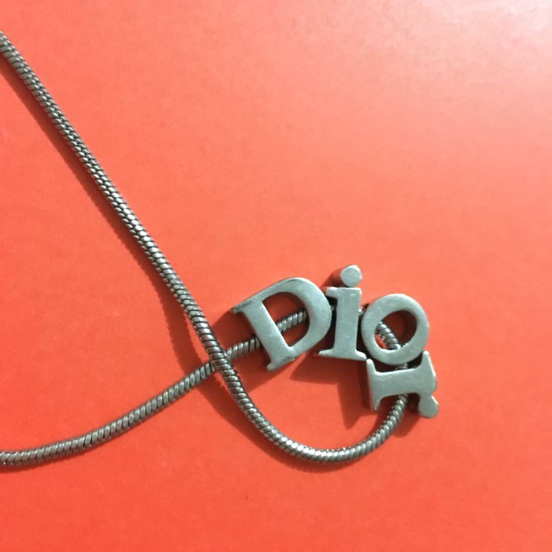 Dior Silver  Necklace 銀鍊 vintage accessory Celine Gucci style