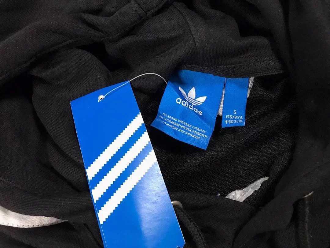 Hoodie Adidas stripes black fit size S/M/L/XL