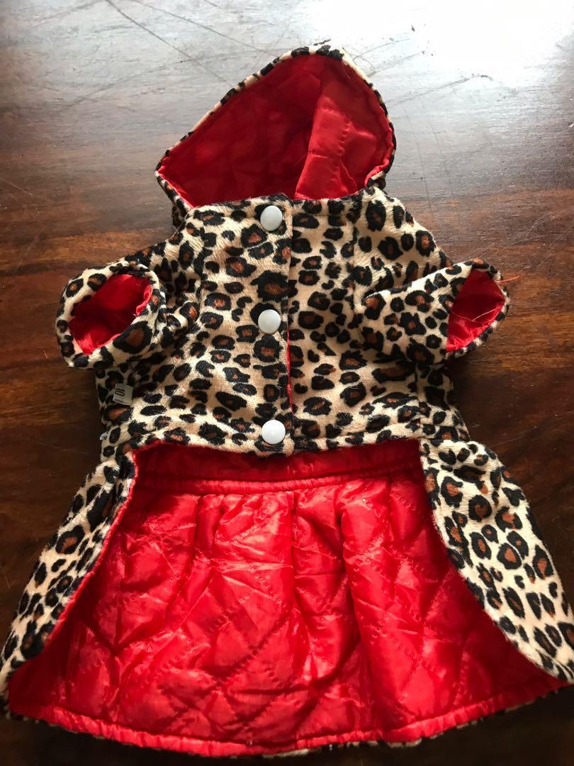 Leopard dog jacket