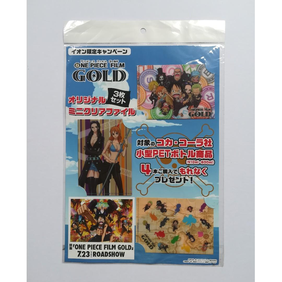 (Limited) One Piece Film Gold - Mini Clear File Set