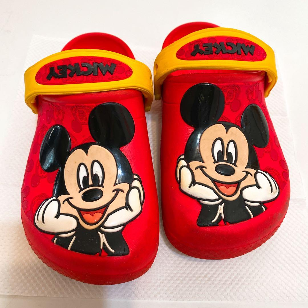 Mickey  mouse red cros 拖鞋