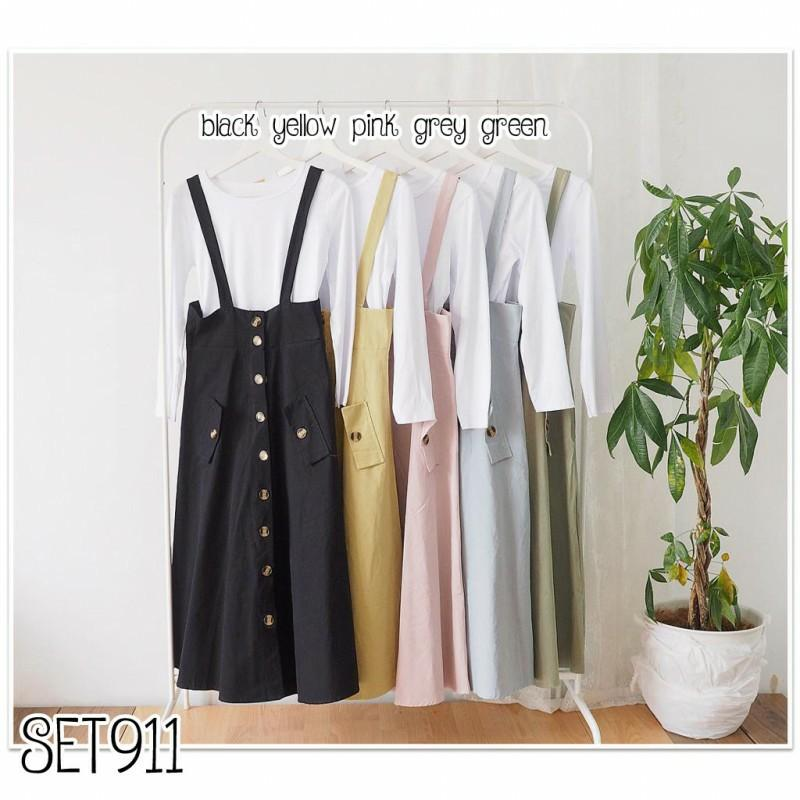 Mididress SET911 setelan dress setelan rok dress casual dress polos dress hijab dress loose dress  setelan import