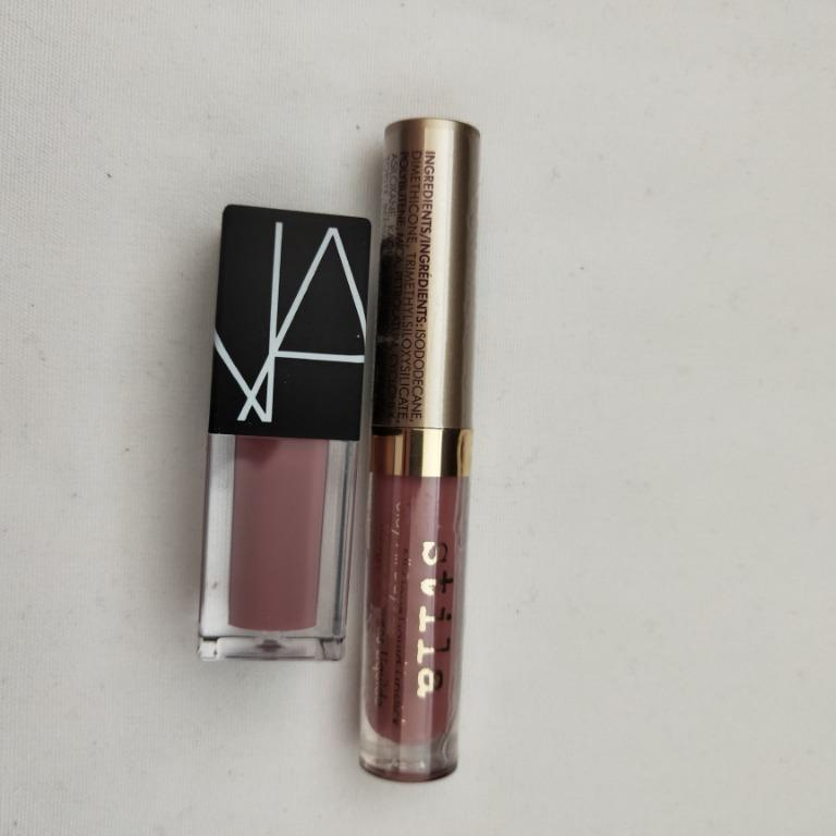 "Mini Lip Bundle - Nars Velvet Lip Glide ""Bound"" & Stila Stay All Day Liquid Lip ""Patina"""