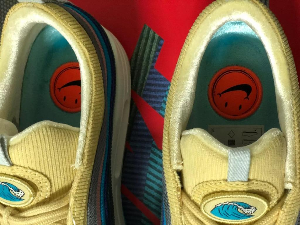 """NIKE AIR MAX 1/97 VF SW """"SEAN WOTHERSPOON"""" (LIGHT BLUE / FURY / YELLOW WASH)"""