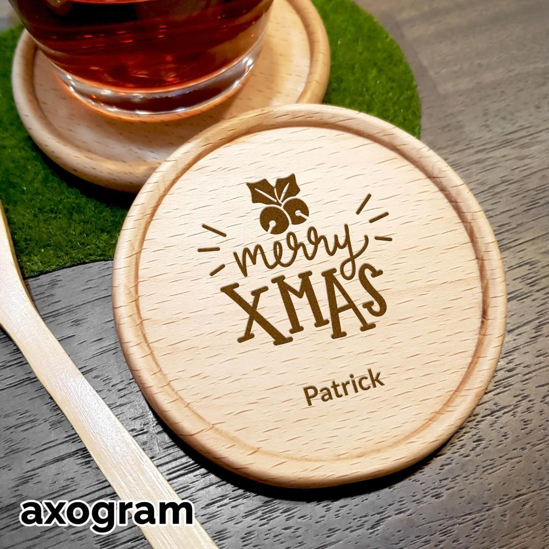Personalized Merry Xmas Coaster - Bell