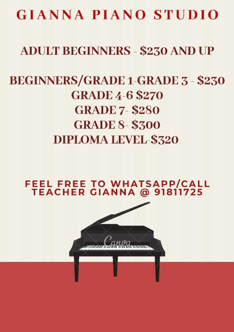 Piano Lessons by very Patient lady teacher!