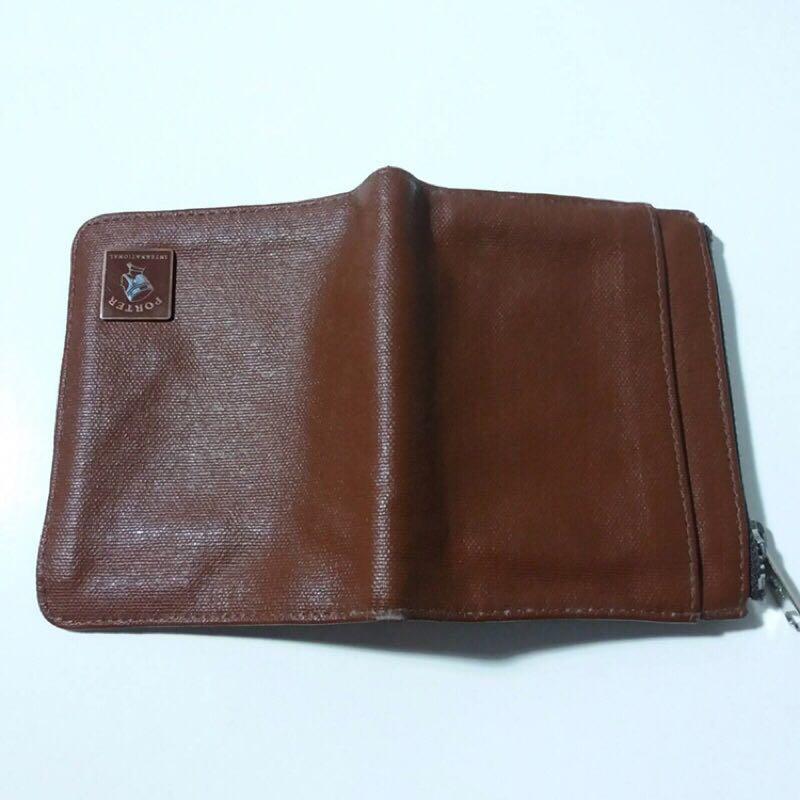 PORTER棕色 駝色  零錢 短式皮夾
