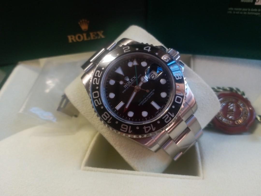 勞力士Rolex 116710LN GMT II V頭有卡