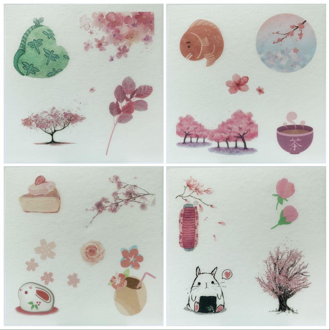 Sakura Washi Stickers Set B