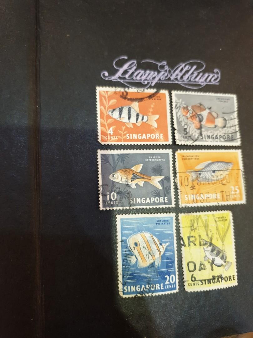 Singapore Stamps 1960's Fish Series