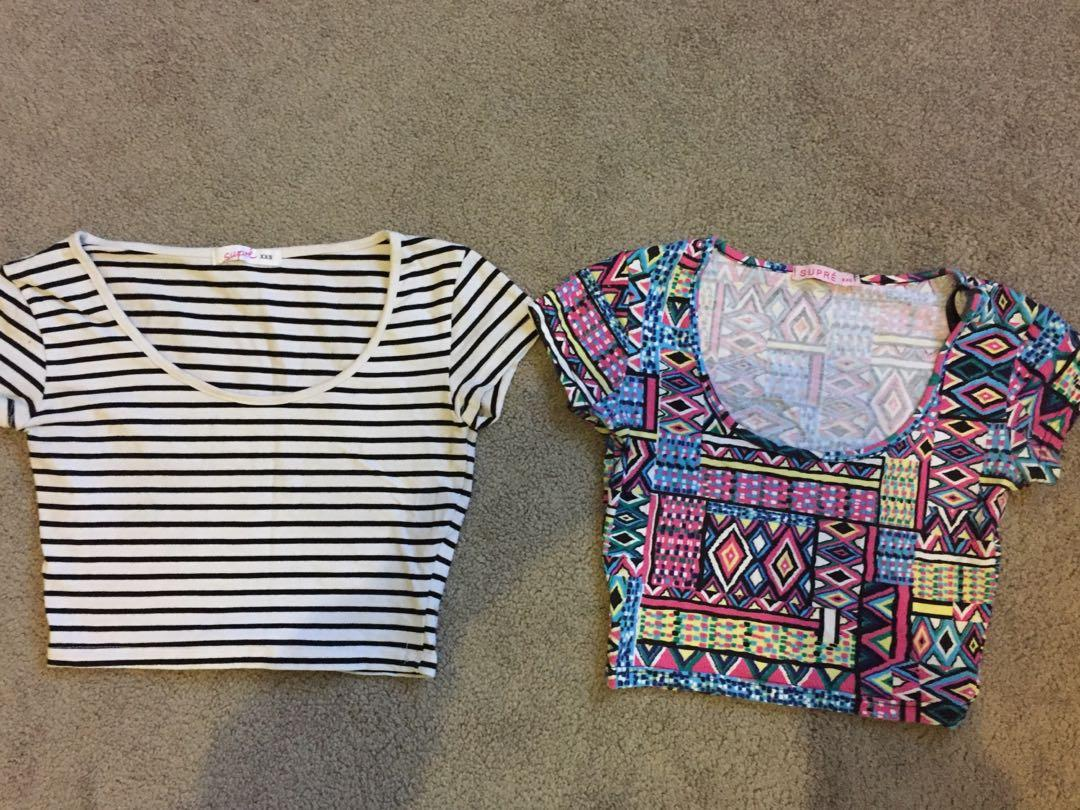 Size 6 crop tops x 2, $10 for both ! Excellent condition