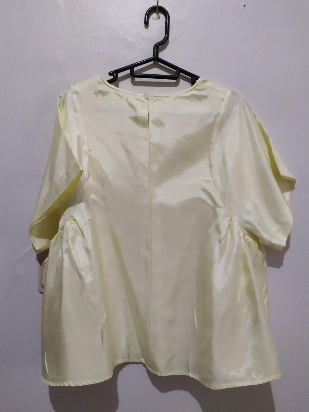 Soft Yellow Formal Top