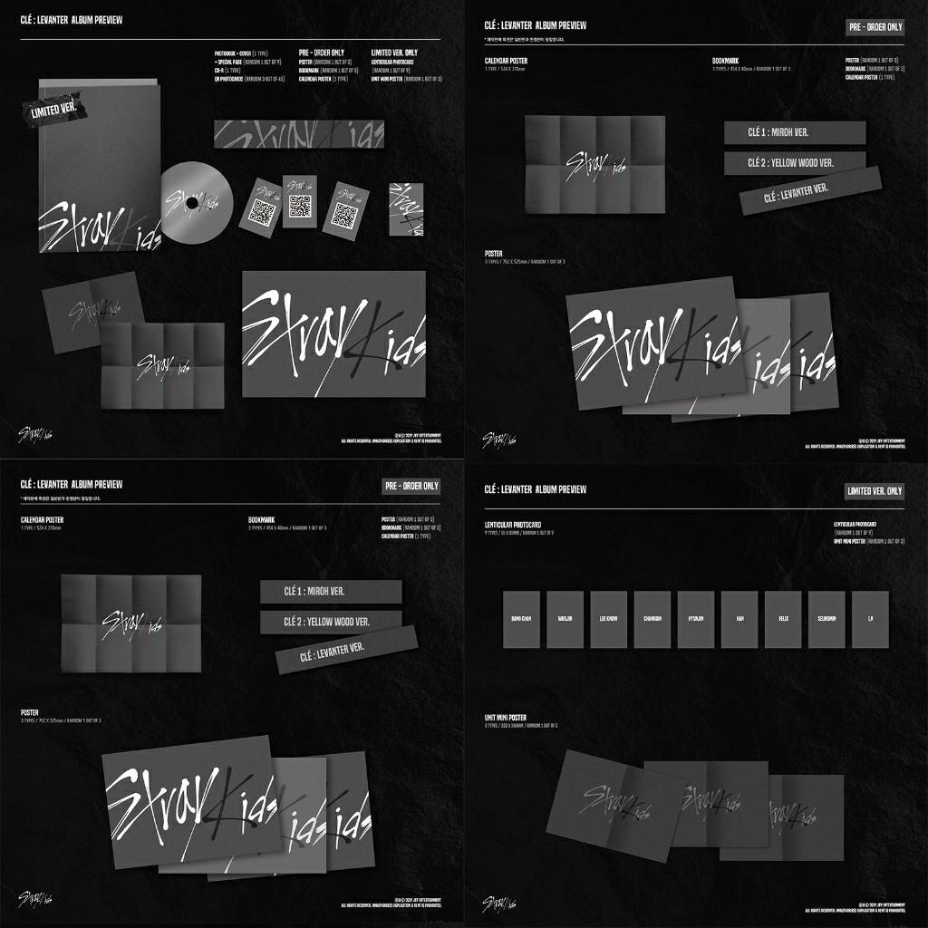 STRAY KIDS - [Clé : LEVANTER] (Limited Edition) + FREE FOLDED POSTER + FREE SHIPPING