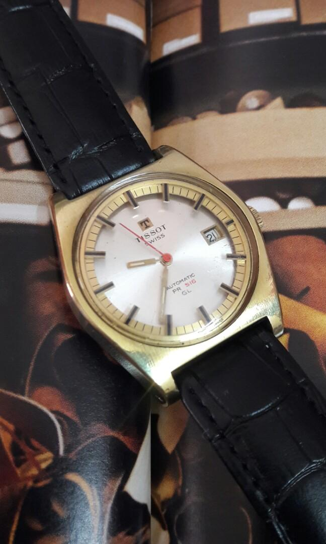 Tissot 516GL Gold Case Automatic Watch