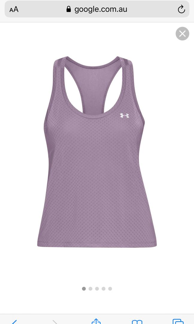 Under armour purple workout top MEDIUM BNWT #swapau