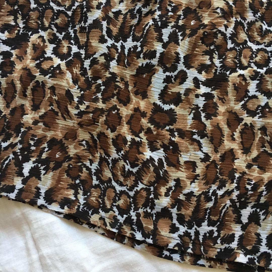 Vintage Leopard Animal Print Crop | Excellent Condition