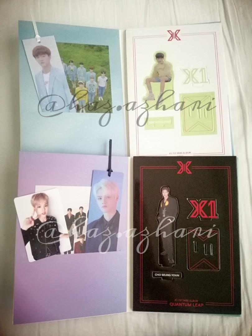 [WTT/WTS] X1 비상 (Bookmark/Standee) & Quantum Leap (Bookmark/PC/Standee) Want: Seungwoo