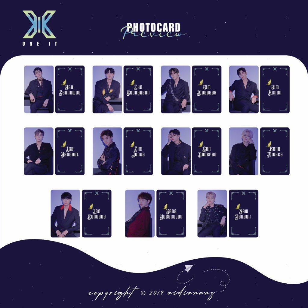‪X1 SONG HYEONGJUN KIHNO PC (both ver) + OFFICIAL SHOWCON POSTCARD + BINDER PC + POUCH PC‬