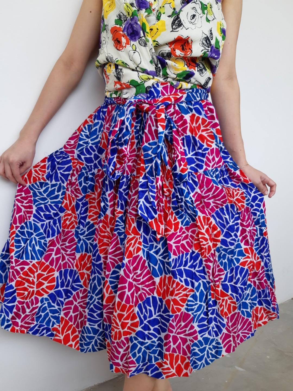 Yves Saint Laurent  Belted Midi Skirt