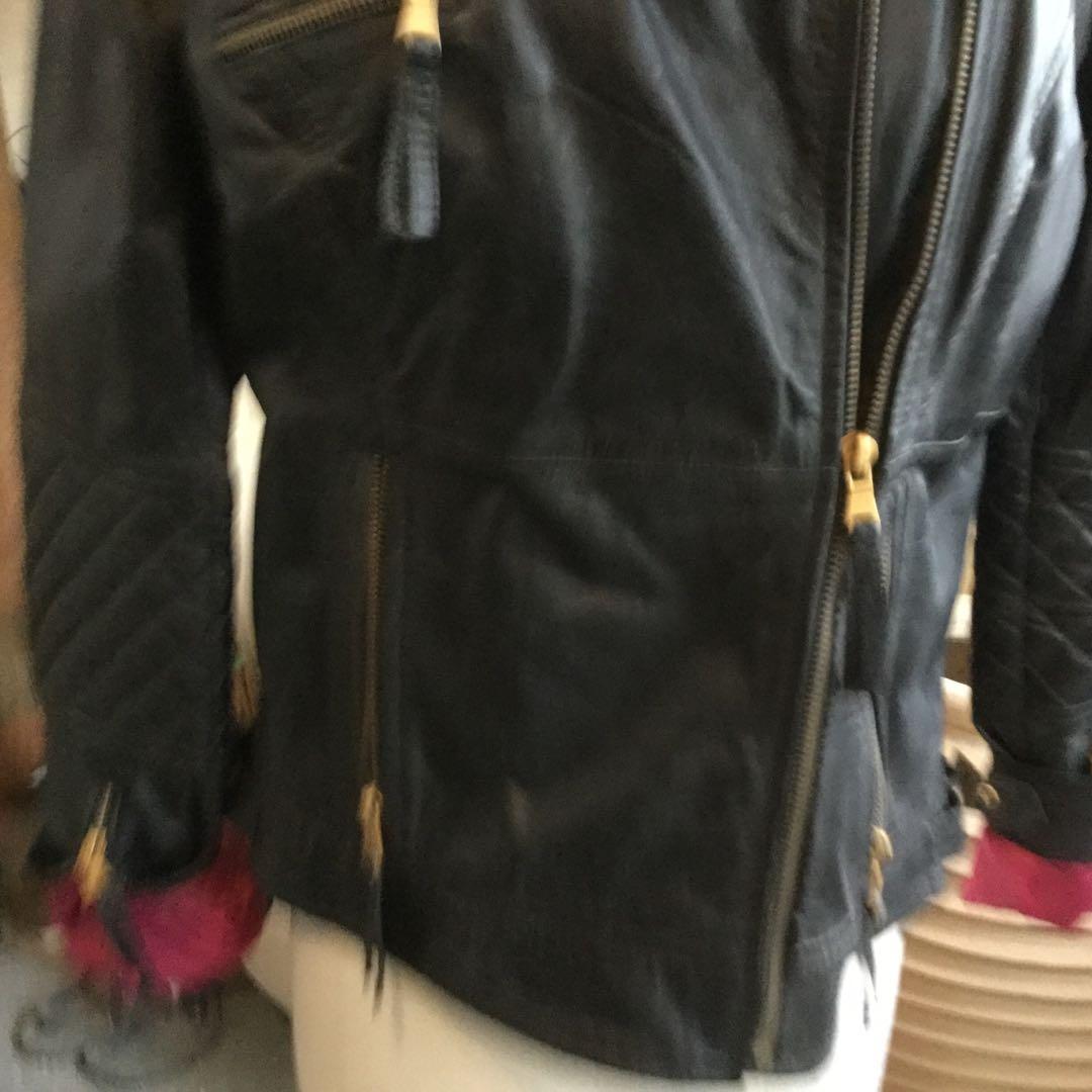 ZARA Real Leather Biker Jacket