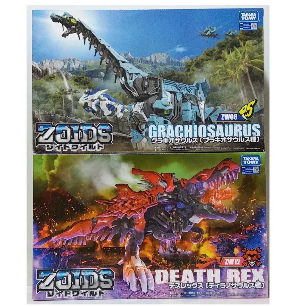 Zoids Wild : ZW08 Grachiosaurus / ZW12 Death Rex