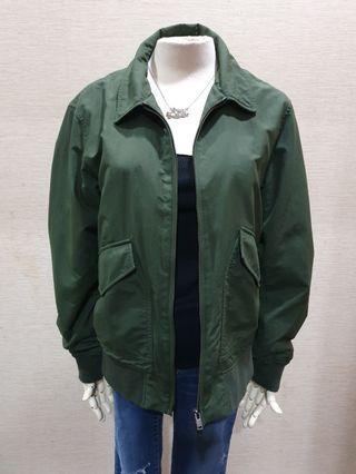 UNIQLO 品牌 秋 質感 墨綠色 長袖外套M
