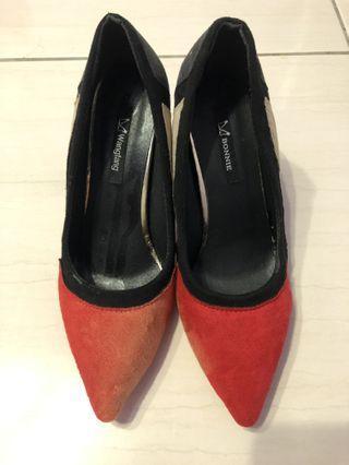 Bonnie拼接高跟鞋