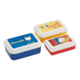 🇯🇵日本製🇯🇵  迪士尼 DISNEY 唐老鴨 DONALD DUCK 3入塑膠密封容器 🌸Joyce媽咪小舖🌸