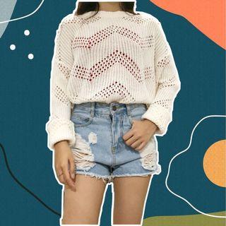Uniqlo knitted sweater white