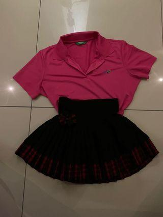 Stel pink Shirt with rample skirt