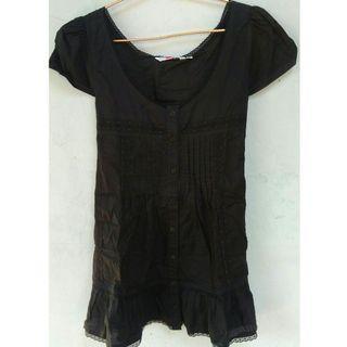 Mididress/dress hitam/blouse big size/blouse panjang