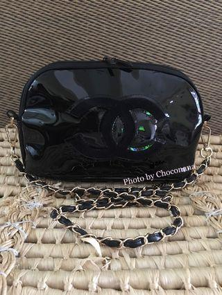 Ready stock: Chanel Precision glossy vinyl chainstrap sling bag