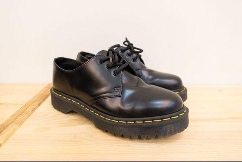 【 Dr. Martens】馬汀大夫 1461 BEX  厚底 馬汀鞋  中性鞋 男女可穿 黑色 厚底總高4.5cm(九成新)