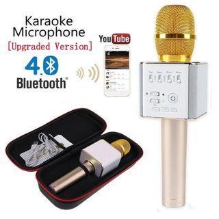 Q9 Wireless Bluetooth Microphone Karaoke KTV Portable Music USB Speaker Singing
