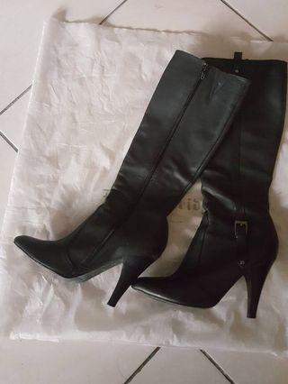 原價7580 Knightsbridge細跟皮質長靴