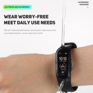 M4 Plus Waterproof Colour Screen Smart Watch IP67 Sport Band Bluetooth Wristband Monitor Fitness Tracker Blood Jam Pintar